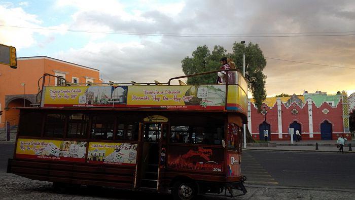 Conoce Puebla en un tradicional tranvia panoramico