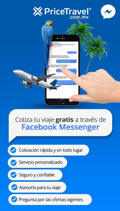Cómo reservar viajes en PriceTravel: Facebook