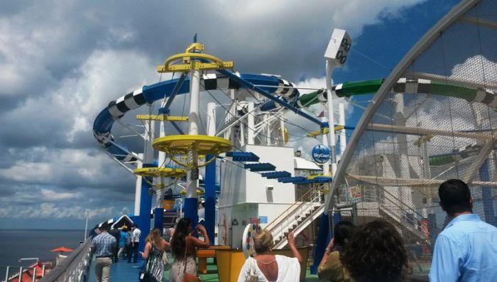 Parque acuático de Carnival Sunshine, el lugar ideal para tus pequeños