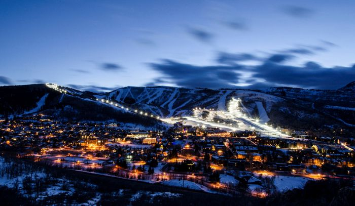 Park City at night.