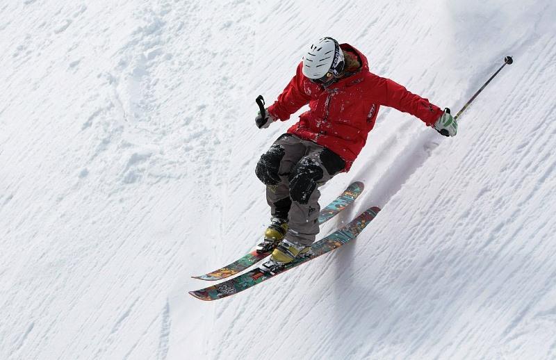 Esquiando en las montañas de Park City, Utah